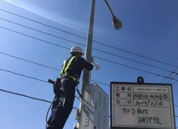 岡山市浦安地区カメラ工事3