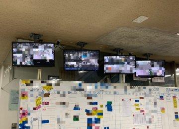 カメラ工事とモニター天吊 in 広島市