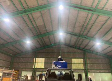 高天井器具LED工事
